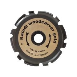 Disque à sculpter pour bois Woodcarver gold KAINDL