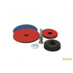 2 supports de ponçage flexibles Ø 125 et 75 mm